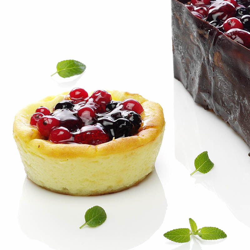 Mini cheese cake con frutos rojas