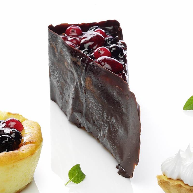 Torta mousse de chocolate y frutas rojas
