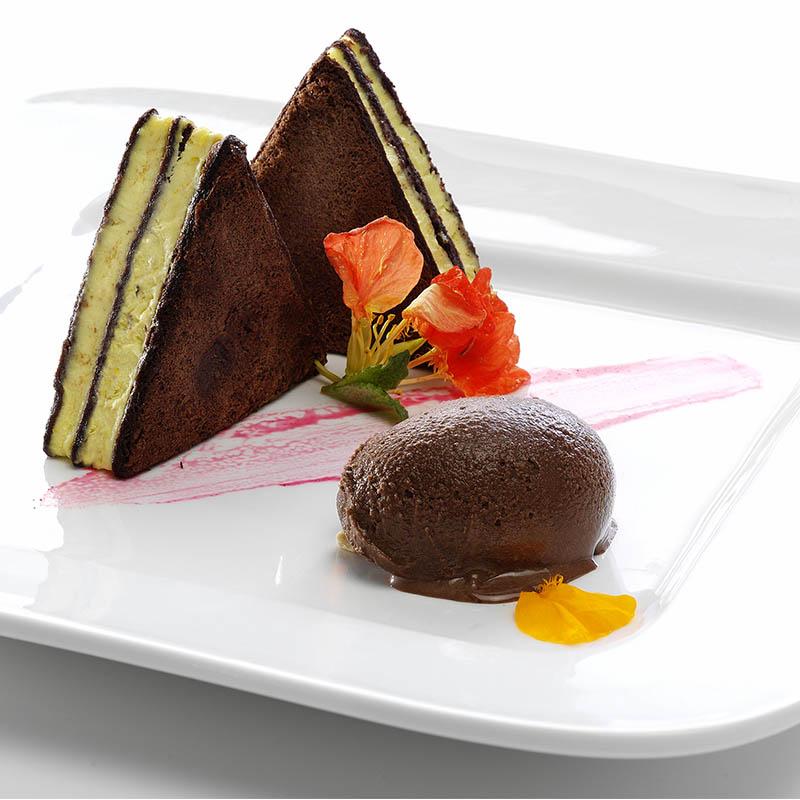 Cremoso de maracuyá y chocolate
