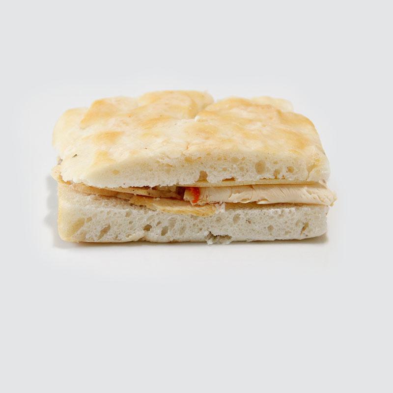 Sandwich Focaccia de Pollo y Gruyere