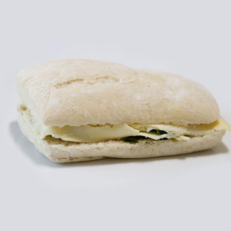 Sandwich Ciabata de Espinaca y Mozarella