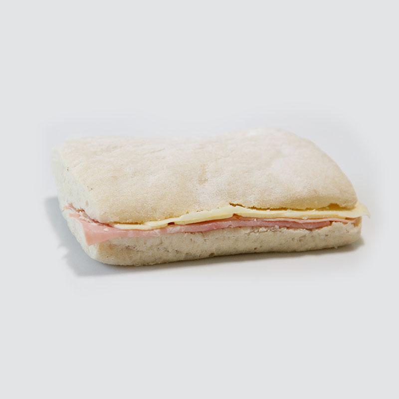 Sandwich Ciabata de Jamón y Queso