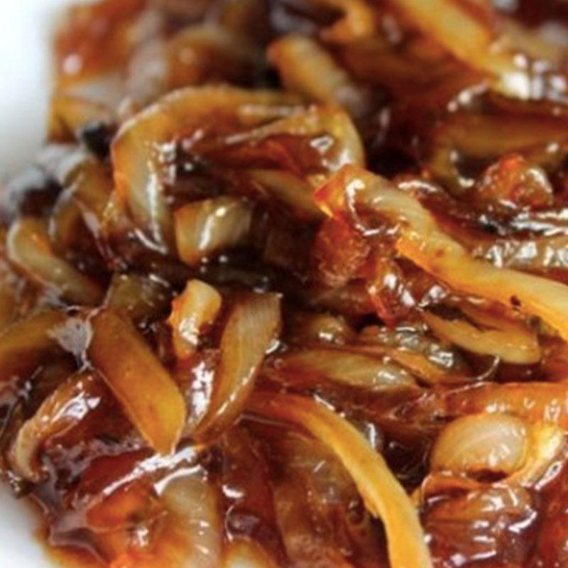 Cebollas caramelizadas con panceta