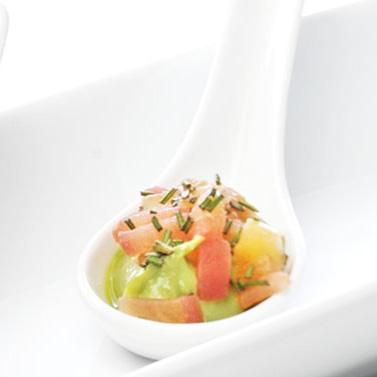 Mousse de Palta y Tomate